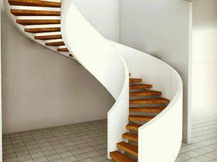 پله گرد دوبلکس ، پله معلق ، پله مارپیچ ، پله های قوسی و منحنی بیتااستپ